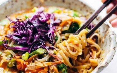 Bangkok Coconut Curry Noodle Bowl   Vegetarian Asian Recipe