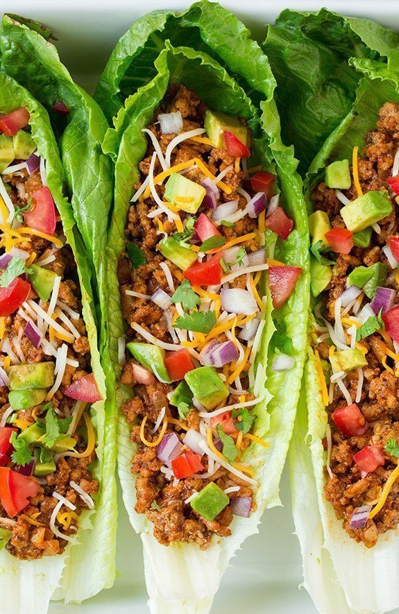 Http www cookingclassy com 2015 07 turkey taco lettuce wraps