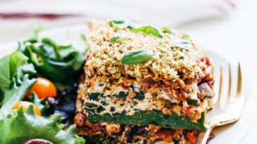 Vegan Cashew Ricotta Zucchini Lasagna