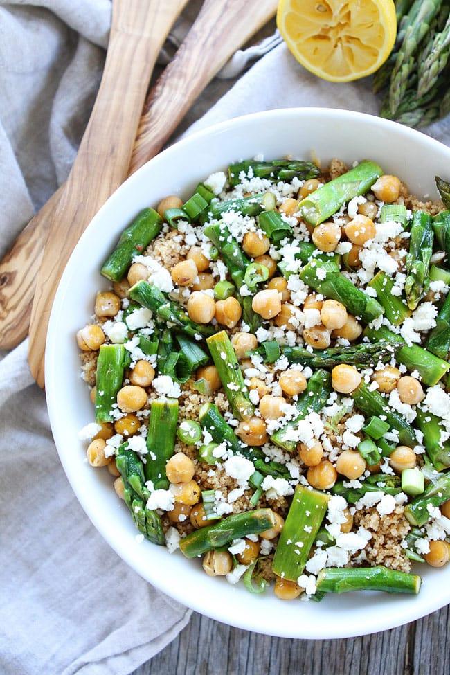 Asparagus Chickpea Quinoa Salad