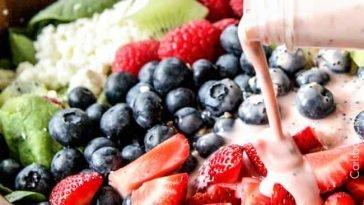 Berry Feta Salad With Creamy Strawberry Poppy Seed Dressing
