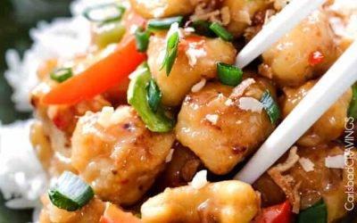 Coconut Cashew Honey Chicken