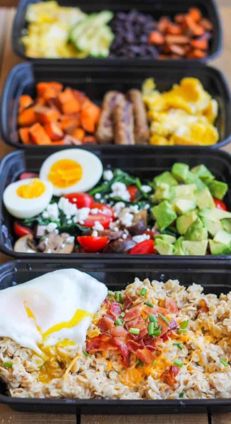 Make Ahead Breakfast Meal Prep Bowls 4 Ways