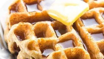 Keto Paleo Almond Flour Waffles