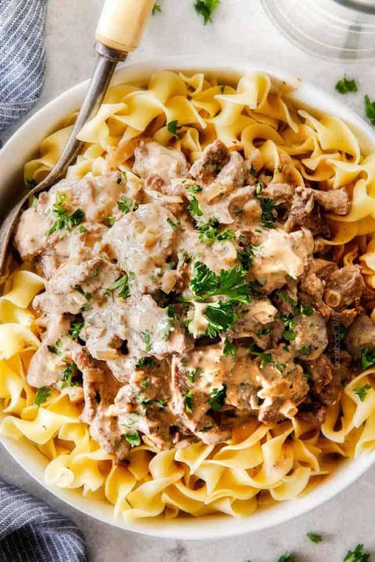 Beef Stroganoff - Healthy Slow Cooker Recipes