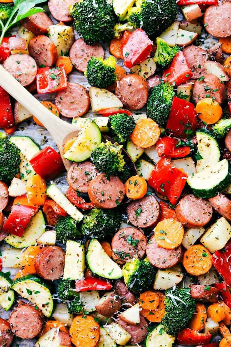 One Pan Meals - Italian Sausage & Veggies