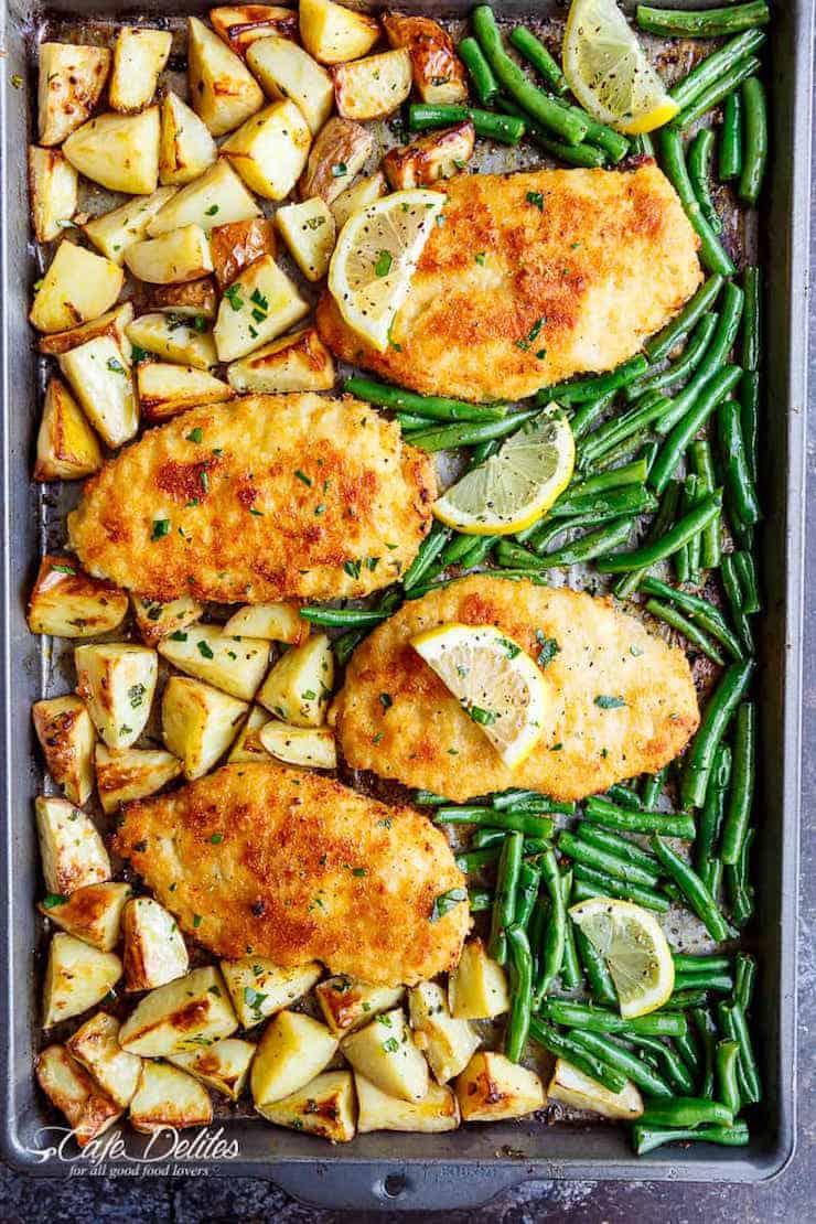 Lemon Parmesan Garlic Chicken & Veggies