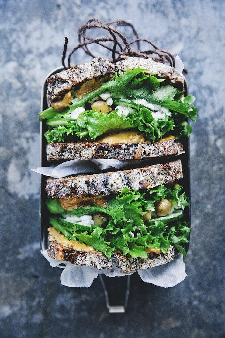 Green Peanut Butter Sandwich