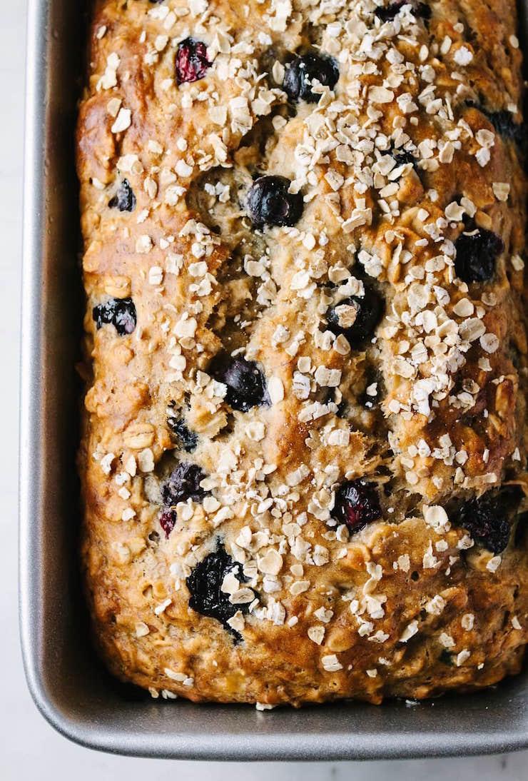 Vegan Blueberry Banana Oat Bread