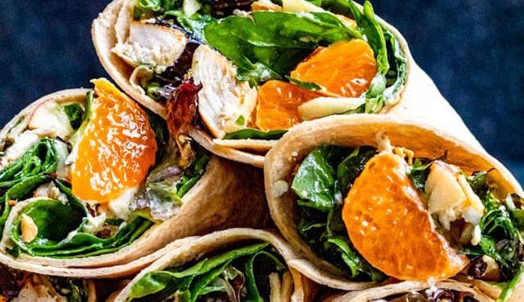 Chicken Wraps with Mandarin Oranges