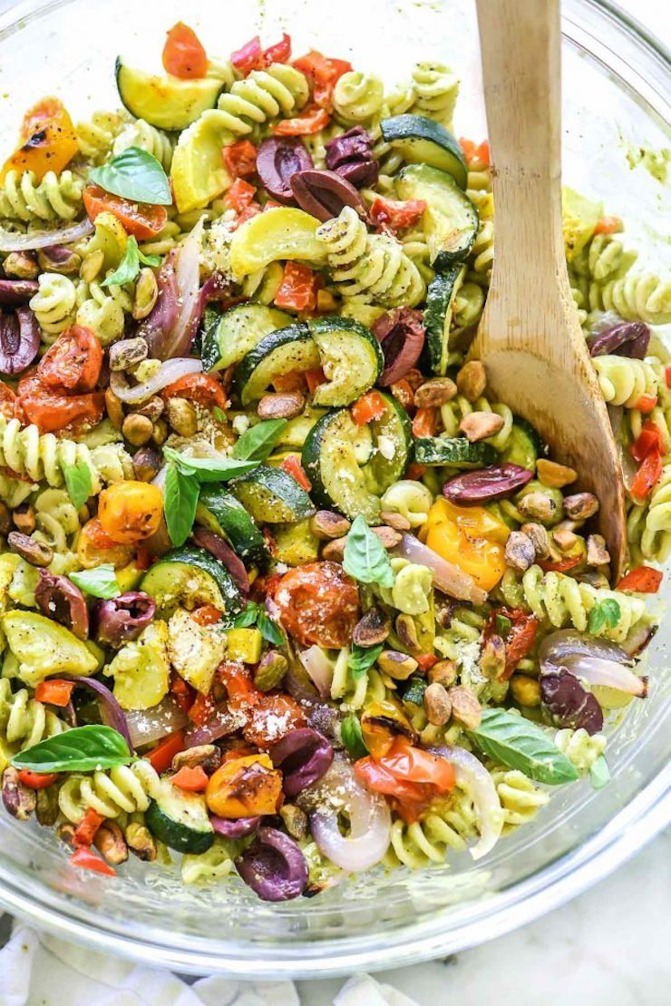 Creamy Avocado Pesto Pasta Salad