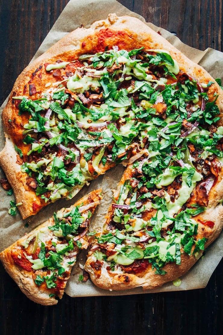 Vegan Bacon Ranch Pizza