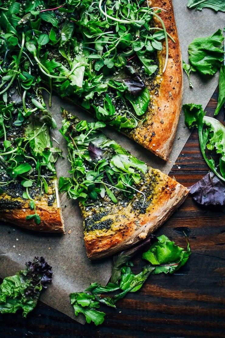 Vegan Green Goddess Pizza