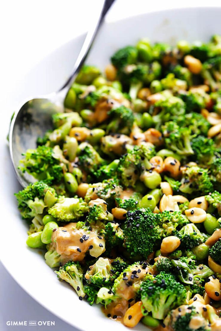 Asian Broccoli Salad With Peanut Sauce