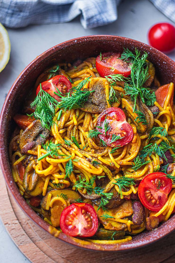 Vegan Kidney Bean One Pot Pasta