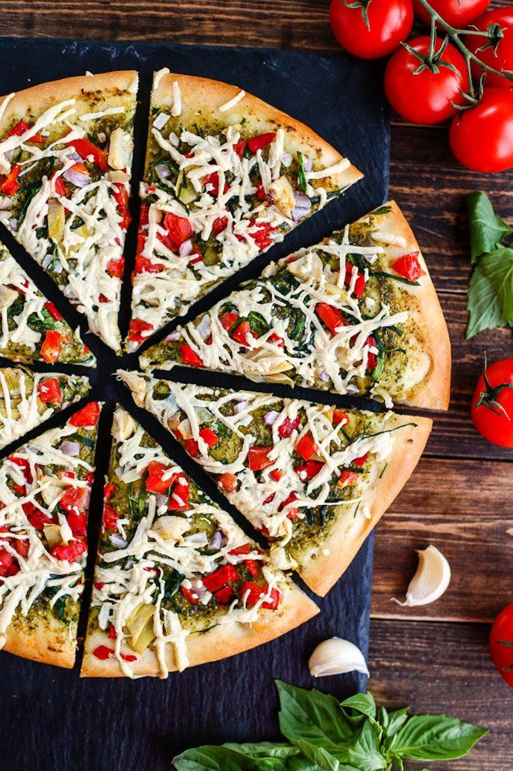 Vegan Mediterranean Pizza
