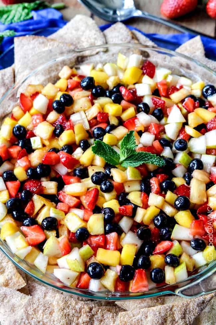 Fruit Salsa Cheesecake Dip