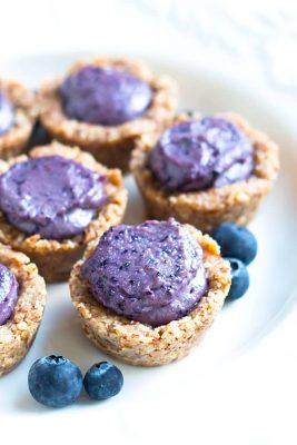 No Bake Healthy Blueberry Tarts