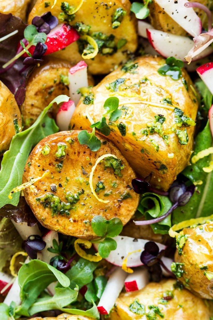 Vegan Potato Salad With Pesto