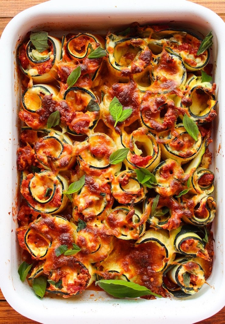 Vegetarian Zucchini Lasagna Rolls