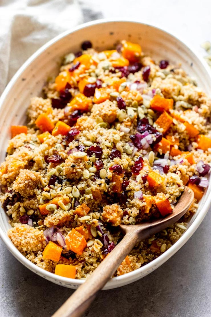 Butternut Squash And Cranberry Quinoa