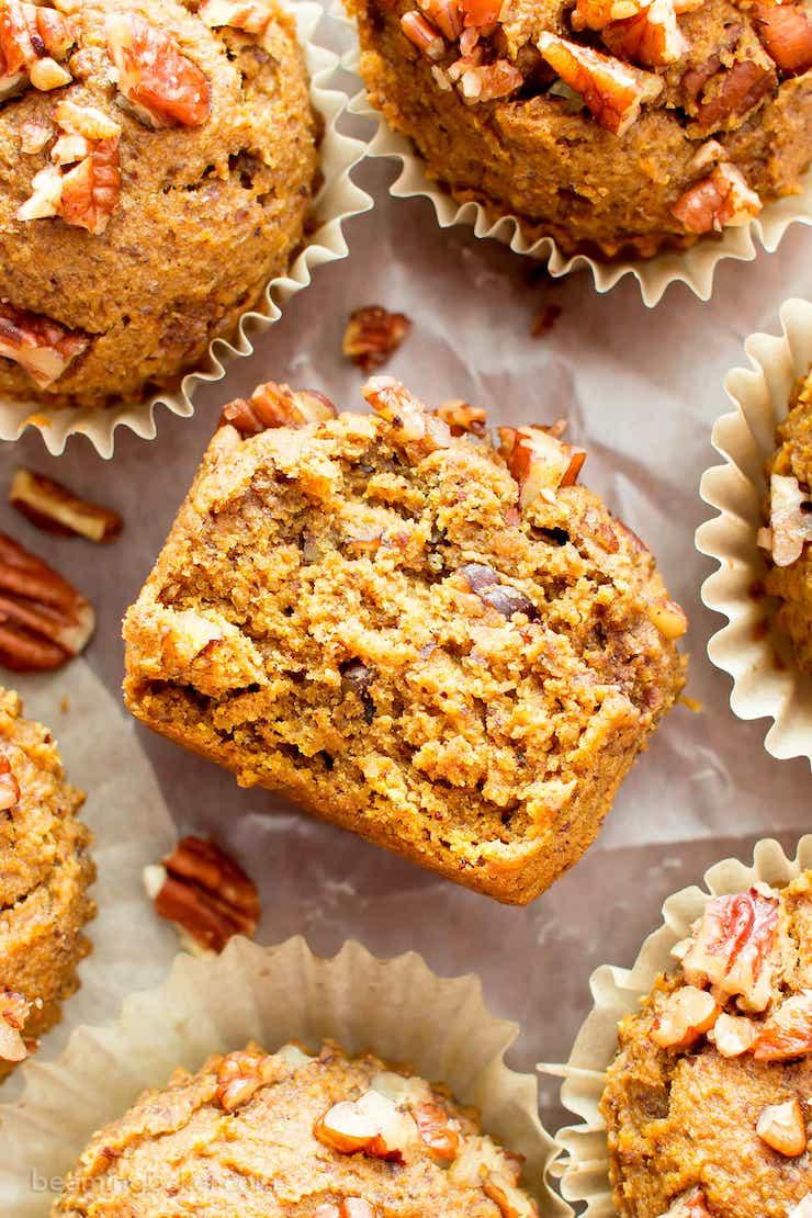 Gluten Free Maple Pecan Pumpkin Muffins
