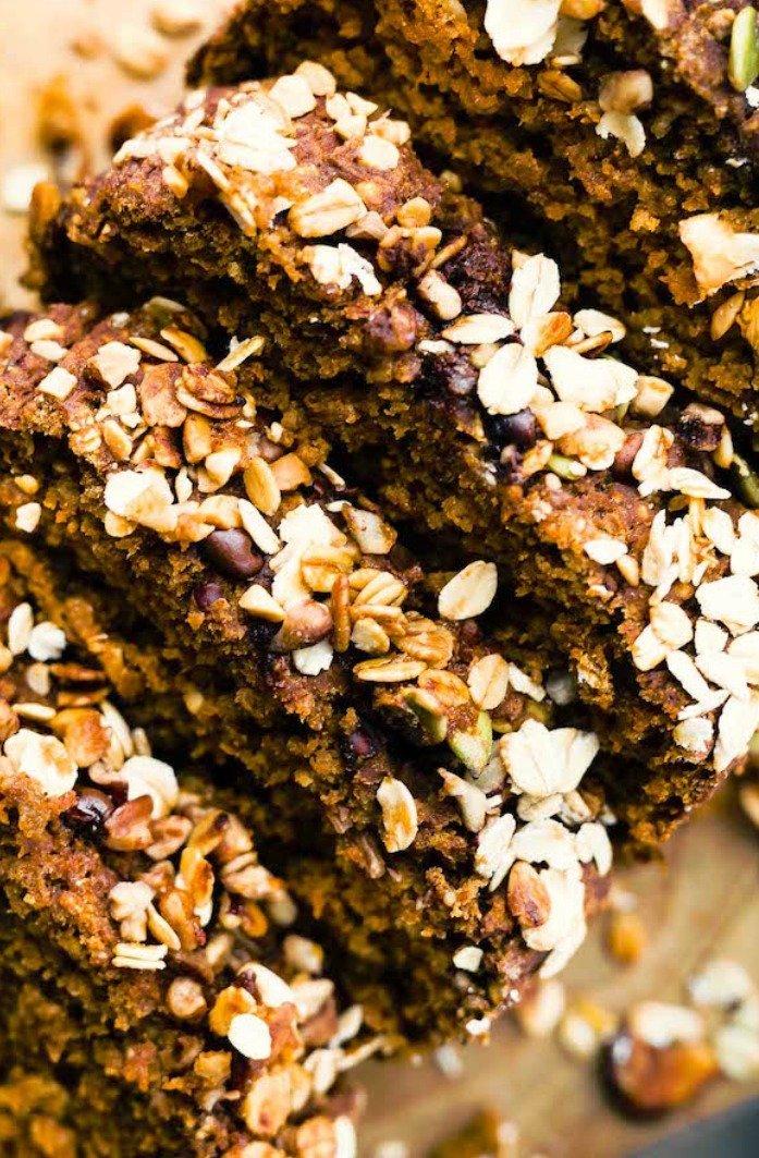 Gluten Free Oatmeal Pumpkin Bread