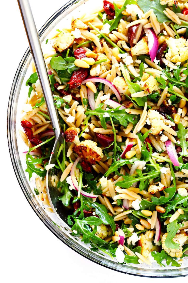 Roasted Cauliflower Orzo Salad