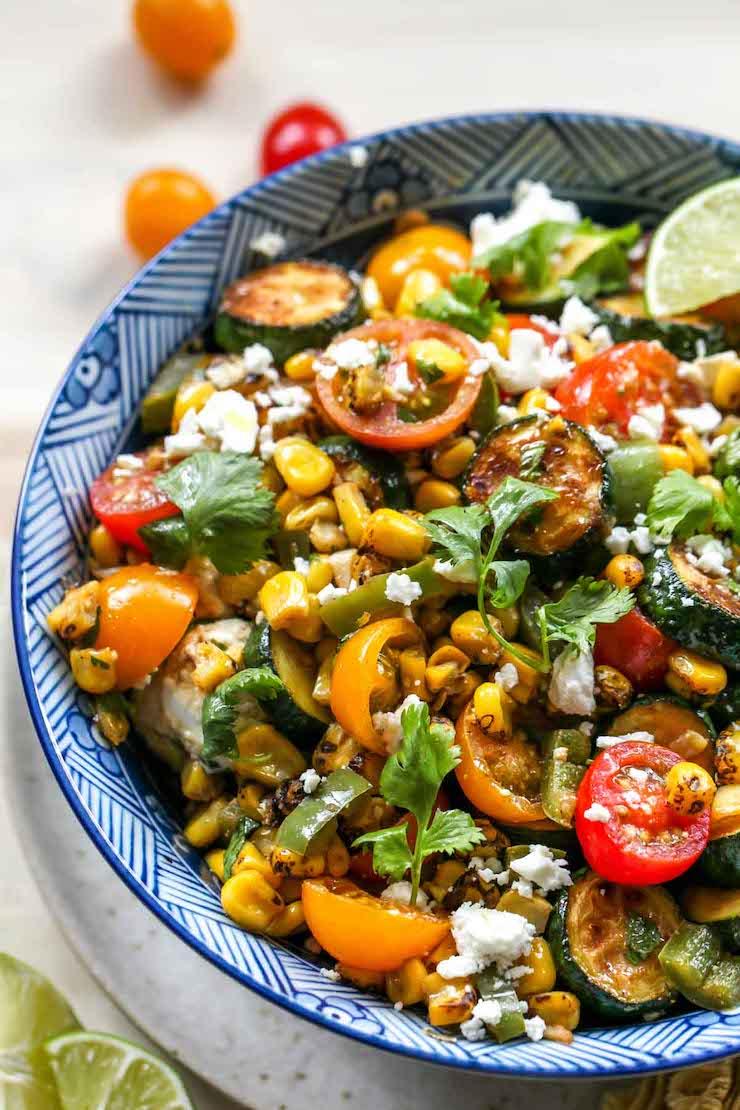 Summer Squash and Corn Fiesta Salad
