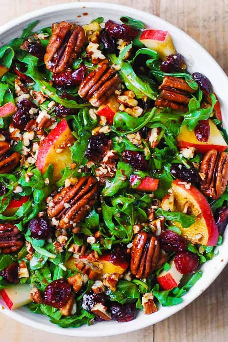 Arugula Salad with Apples, Cranberries, and Pecans